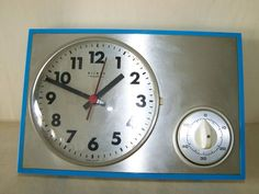 NICE Old Kitchen Clock with Egg Timing, Weimar Quartz Cult Retro Design years Kitchen Clocks, Old Kitchen, Retro Design, Kult, Quartz, Ebay, Weimar, Egg Timer, Nice Asses