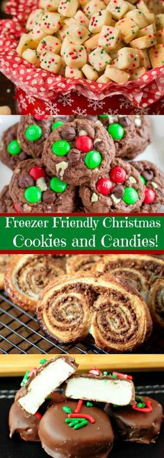 Freezer Friendly, Make-Ahead Christmas Cookies and Candies! - Freezer Friendly, Make-Ahead Christmas Cookies and Candies! Freezer Friendly, Make-Ahead Christmas Cookies and Candies! Holiday Cookies, Holiday Baking, Christmas Desserts, Holiday Treats, Holiday Recipes, Christmas Recipes, Christmas Cupcakes, Cranberry Cookies, Recipes Dinner