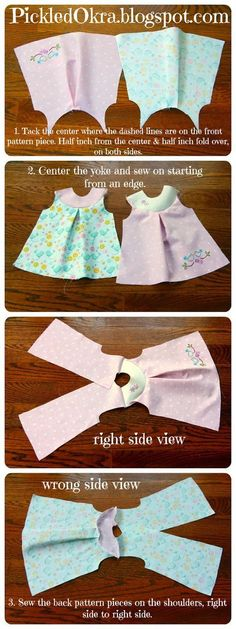 to Sew This easy and free sewing pattern is so cute. I think I will make these for our American Girl dolls.This easy and free sewing pattern is so cute. I think I will make these for our American Girl dolls. Girl Doll Clothes, Sewing Clothes, Girl Dolls, Diy Clothes, Dress Clothes, Doll Dresses, Ag Dolls, Barbie Clothes, Barbie Doll