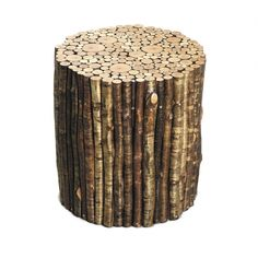 "Birch Pedestal from  Hudson Furniture Inc.. Solid Birch pieces joined together to create desired shape and size. Size Shown: Approx. 18""Diameter. Custom Sizes Available"