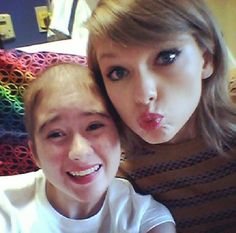 """"""" Taylor with Shelby, a young girl with severe Aplastic Anemia 3/22/14 (x) """""""