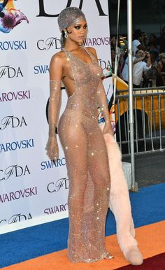 Please girl, don't go naked to any awards event. It will be remembered forever. CFDA Fashion Awards: Best And Worst Dressed