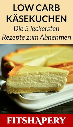 These low carb cheesecakes are great for losing weight because they are sugar-free .- Diese Low Carb Käsekuchen sind bestens zum Abnehmen geeignet, da sie zuckerfrei… These low carb cheesecakes are great for losing weight … - Best Low Carb Recipes, Low Carb Dinner Recipes, Low Carb Desserts, Keto Recipes, Protein Recipes, Breakfast Recipes, Frozen Desserts, Dessert Recipes, Pizza Recipes