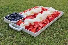 Patriotic Berry & Cake Dessert Platter