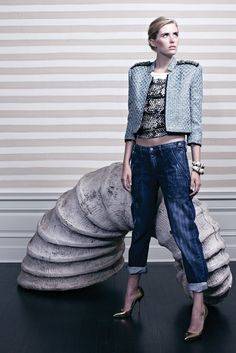 patchy jeans {Kelly Wearstler #Spring2013 Ready-to-Wear Collection}