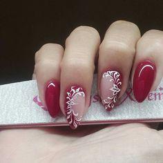 Nail Polish Designs, Acrylic Nail Designs, Nail Art Designs, Elegant Nails, Classy Nails, Pink Nail Art, Pink Nails, Nail Art Arabesque, Bride Nails