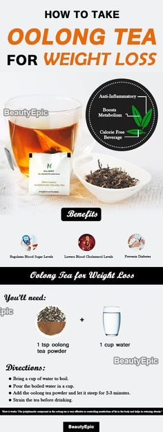 Diet Plan To Lose Weight How to Prepare Oolong Tea for Weight Loss - The polyphenolic compound in the oolong tea is very effective in controlling metabolism of fat in the body. Here is how to take oolong tea for weight loss Weight Loss Tea, Quick Weight Loss Tips, Losing Weight Tips, Oolong Tee, Thé Oolong, Lose Weight At Home, How To Lose Weight Fast, Reduce Weight, Lost Weight