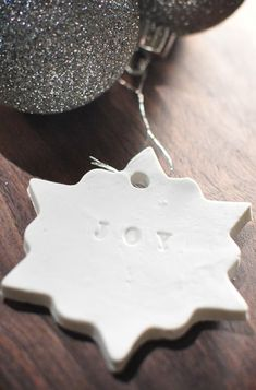 DIY Stamped Clay Christmas Ornaments