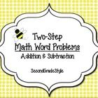 This is a 12 card set of spring themed two-step addition/subtraction math word problems and answer sheet template. These can be used with centers, ...