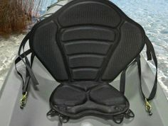 Yak Gear Manta Ray Seat has brass buckles and a D ring placement in the design that enables this seat to be compatible with sit on top kayaks, sit inside kayaks, and canoes