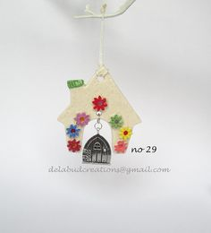 Magical Irish Ceramic Fairy houses  that can be hung anywhere in the home so your fairy can shower you with magic WAS 15 euro NOW 10 euro