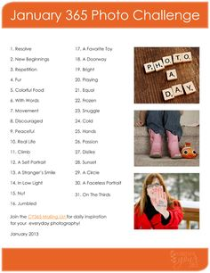 CaptureYour365 2013 365 Project Challenge List. Yay I will now since I have an awesome camera!! :D