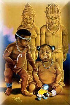 Ibejis são divindades gêmeas infantis, é um Orixá duplo e tem seu próprio culto, obrigações e iniciação dentro do ritual. Divide-se em masculino e feminino, (gêmeos).Em Oyó cultua-se como Erês ligados a qualidade de Xangô e Oxum. Popularmente conhecido como Oxum e Xangô de Ibeji. Os Orixás gêmeos protegem os que ao nascer perderam algum irmão (gêmeo), ou tiveram problemas de parto. Em algumas casas de Candomblé e Batuque são referidos como erês (crianças)
