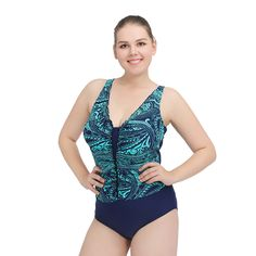 2017 New Arrival Plus Size Swimwear Print Large Size One Piece Sexy Bathing Suits for Women  Triangle Swimsuit