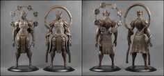 Raijin-Fujin [Clay Render] by Khempavee.deviantart.com on @DeviantArt