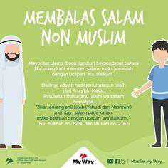 Ya, kita dilarang untuk mengawali mengucap salam kepada teman kita yang non muslim, coba perhatikan hadits beriku Hadith Quotes, Muslim Quotes, Quran Quotes, Qoutes, Hijrah Islam, Doa Islam, Prayer Verses, Quran Verses, Muslim Religion