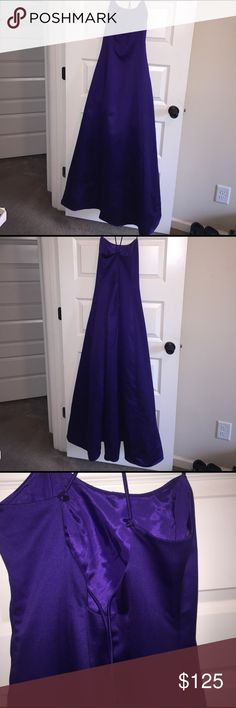 Jump By Wendye Chaitin Elegant Beautiful Gown Size 9/10.  Wendye Chaitin's Jump Purple Gown With Sash. The Gown For All Special Occasions! Formal Wear Jump Dresses Wedding