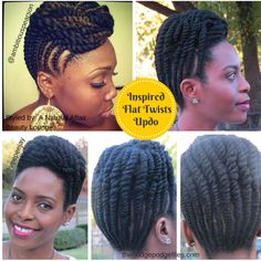 Natural Hair Flat Twist style