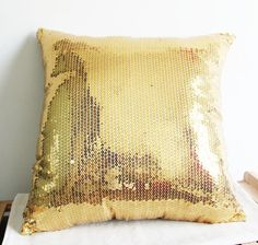 Summer Decor Sale  Gold Sequin Decorative by homesweethome23, $16.00