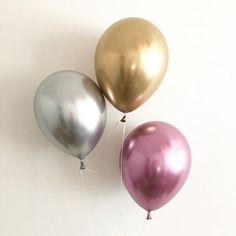 NEW Chrome Balloons Gold Chrome Silver Chrome Mauve Chrome Latex Balloons Bridal Shower Bachelorette Wedding Baby Shower Chrome Balloons