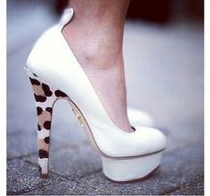 White shoes. Charlotte Olympia
