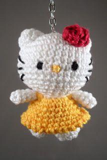MadeByLeonie: Hello Kitty 2 - Sleutelhanger
