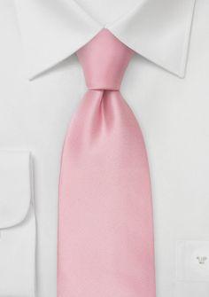 Krawatte einfarbig Rosa