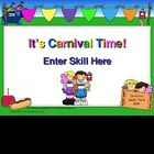 This is a game template with cute carnival graphics. You may add your own answers and questions to connect with your lesson. It can be used as a wh...