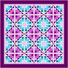 Shortcut block #570 by June Dudley shown in a quilt setting. Appears in Quiltmaker's 100 Blocks Vol. 6.