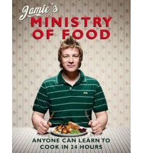 In my bookshelf - Jamie's Ministry of Food.  I love the homemade curry pastes.