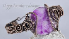 Pink Crazy Lace Agate in Antiqued Copper Woven Wire Helix Bracelet