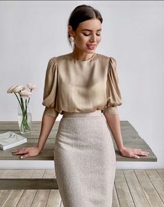 Basic Fashion Tips .Basic Fashion Tips Business Casual Outfits, Office Outfits, Mode Outfits, Skirt Outfits, Classy Outfits, Fashion Outfits, Cute Professional Outfits, Professional Wardrobe, Work Wardrobe