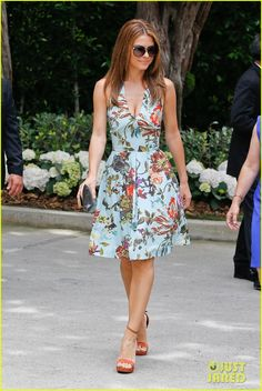 8d43a5291 Ted Baker - Maria Menounos wearing Ted Baker s RARA dress Nina Dobrev  Style