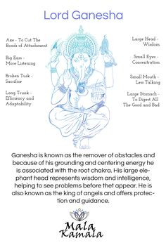 Who is Ganesha or Ganesh? Spiritual Yoga Symbols and What they Mean. Mala Kamala Mala Beads - Boho Malas, Mala Beads, Yoga Jewelry, Meditation Jewelry, M Lord Ganesha, Kundalini Yoga, Yoga Meditation, Meditation Tattoo, Meditation Space, Ashtanga Yoga, Om Symbol, Om Gam Ganapataye Namaha, Yoga Fitness