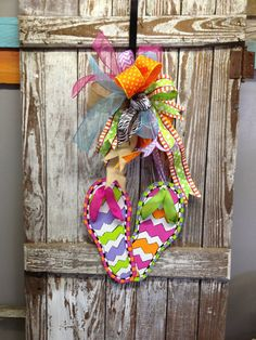 Flip-Flop Door Icing Wreath Attachment, Flip-Flips, Sandals, Changeable Wreath Attachment on Etsy, $43.00
