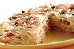 Pastel de crepes y jamón crudo - revistamaru.com