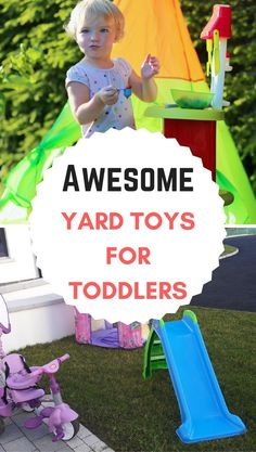 Yard toys for toddlers to play outdoors! Fun outdoor toys toddler girls and boys! Outside Toys For Toddlers, Outdoor Activities For Toddlers, Best Outdoor Toys, Outdoor Toys For Kids, Outdoor Play, Best Toddler Toys, Toddler Girl Gifts, Little Girl Toys, Toys For Girls