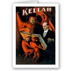 Items similar to Magician Magic Poster the Great Kellar 11 x 17 Devil Vintage Poster Reprint on Etsy Pub Vintage, Vintage Circus, Vintage Ephemera, Vintage Horror, Vintage Signs, Circus Poster, Retro Poster, Vintage Posters, Vintage Images