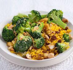 Brokkoli mit Kurkuma-Cashewkern-Reis und Zitronenbutter   Blog Köstlich Vegetarisch