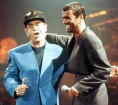 Fab photo of Elton John and George Michael from way back.