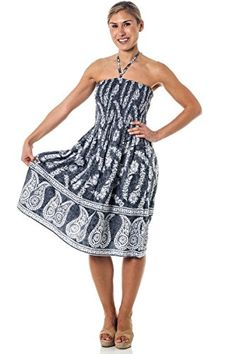 One-size-fits-most Tube Dress Coverup - Jasmine Grey. Durable elastic tube  top fits sizes Dress Length 34 Neck strap is removable. Airy and light  weight. 974450ac2433