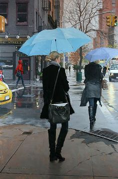 Vincent Giarrano, Blue Umbrellas (Sold)