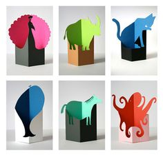 Paper animals by Fel