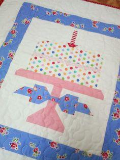 happy little cottage: Birthdays!!!  Quilty Fun Happy First Birthday Cake Block