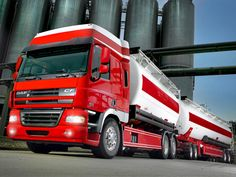 DAF truck, tanks, 7 axles