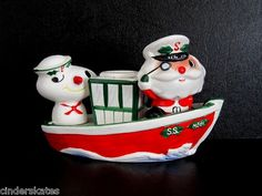 HOLT HOWARD SANTA & HIS FIRST MATE Vintage Christmas Salt and Pepper S Shaker | eBay