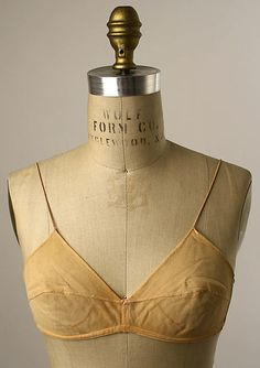 Brassiere, early 1930s Henri Bendel ( american label, cotton
