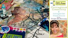 Contagious Creativity With Trish McKinney! Gelli Plate Printing, Gel Press, Gelli Arts, Ink Painting, Watercolor Paper, More Fun, Abstract, Creativity, Artist