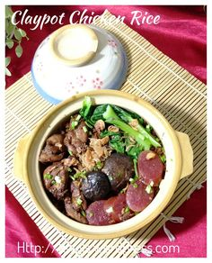 """Cooking """"Clay Pot"""" Chicken Rice Using Rice Cooker"""