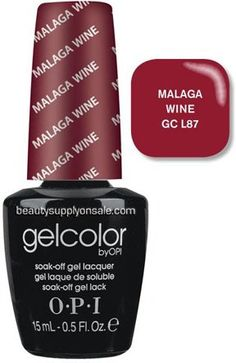 O.P.I Gelcolor Collection Nail Gel Lacquer, Malaga Wine, 0.5 Fluid Ounce - Listing price: $35.00 Now: $25.80 + Free Shipping
